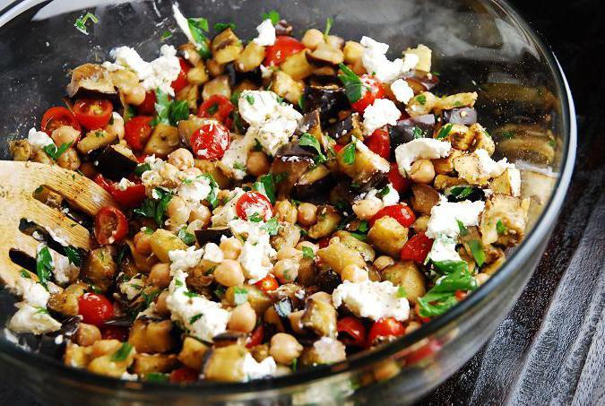 рецепт салатов из баклажанов на стол