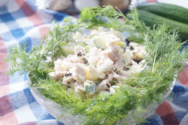 салат курица чернослив сыр грецкий орех