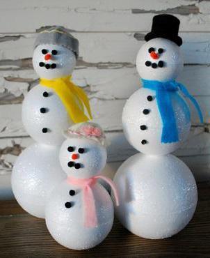 игрушки из пенопластового шара