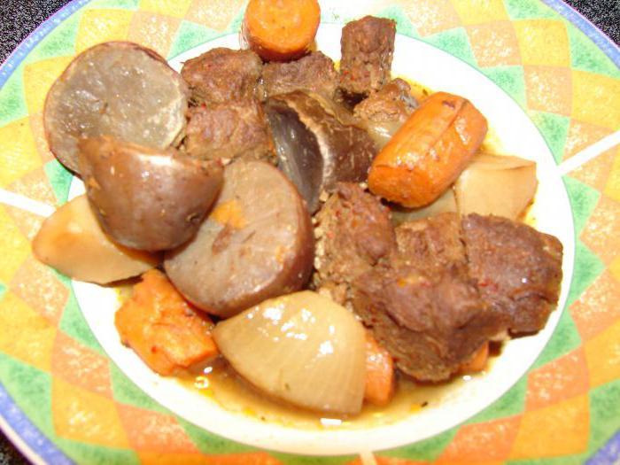 жаркое из индейки с картошкой
