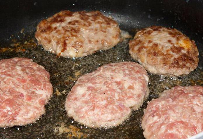 котлеты из рубленого мяса