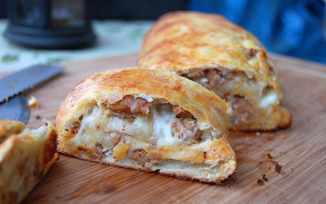 слоеное тесто бекон сыр