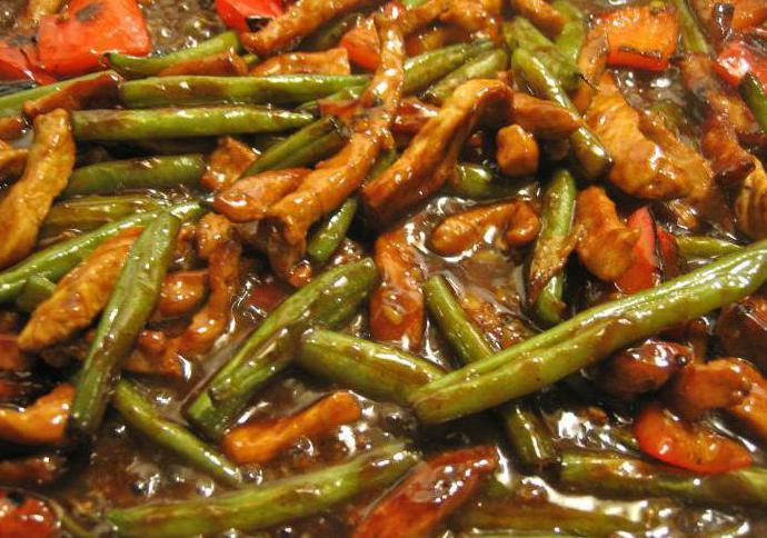 Мясо с стручковой фасолью в томатном соусе рецепт пошагово