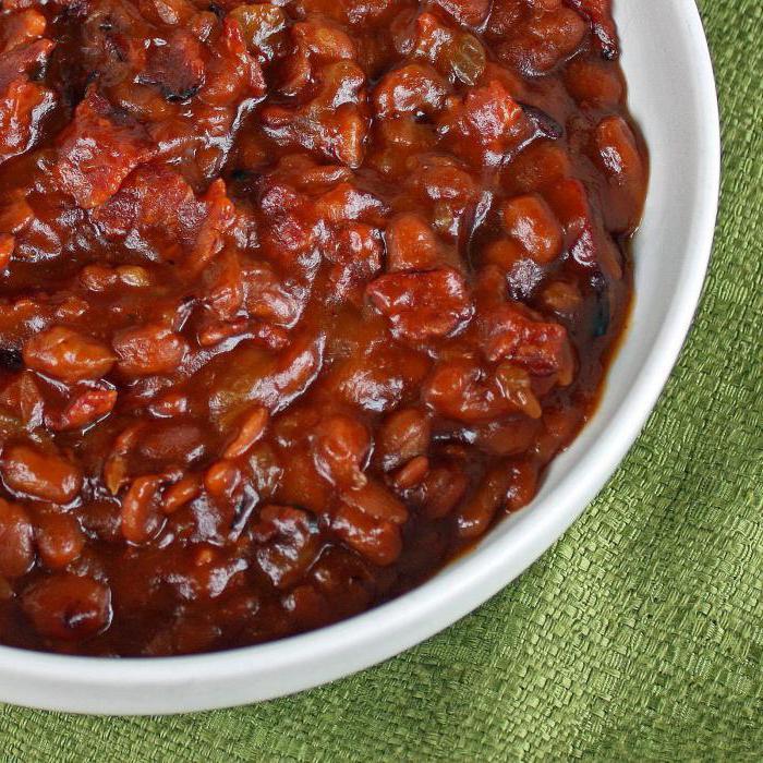свинина с фасолью в томатном соусе рецепт с фото