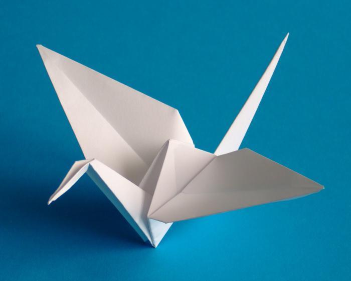 оригами из бумаги журавлик счастья