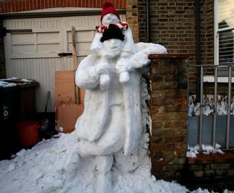 как из снега сделать фигуры