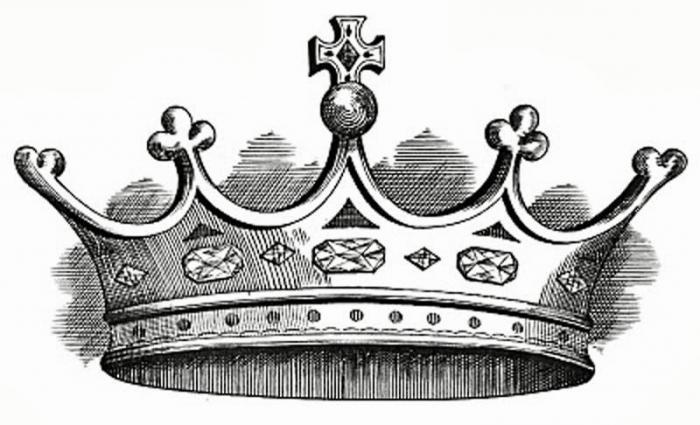 как нарисовать корону карандашом