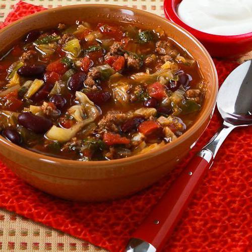 суп из красной фасоли рецепт с мясом