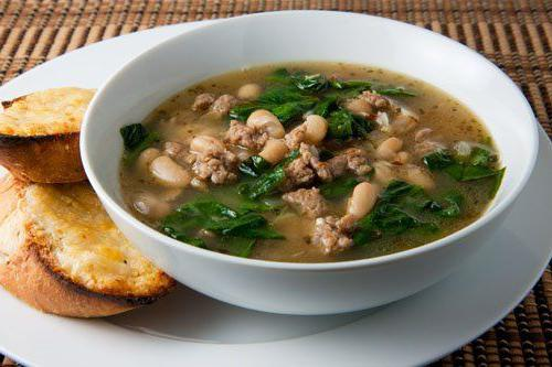 суп из фасоли рецепт с мясом сельдереем