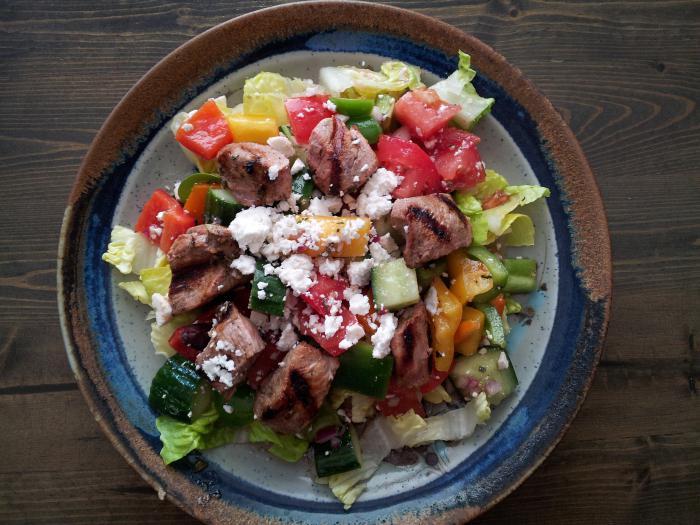 Салат из мяса свинины « Рецепты салатов