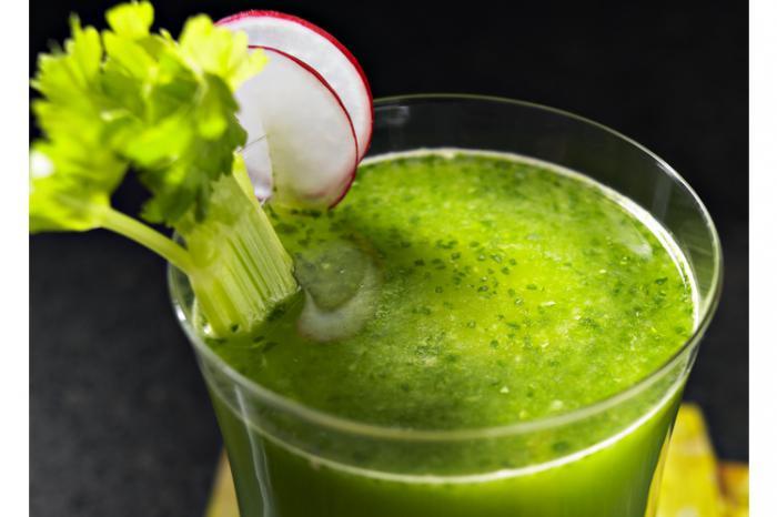 овощной зеленый коктейль