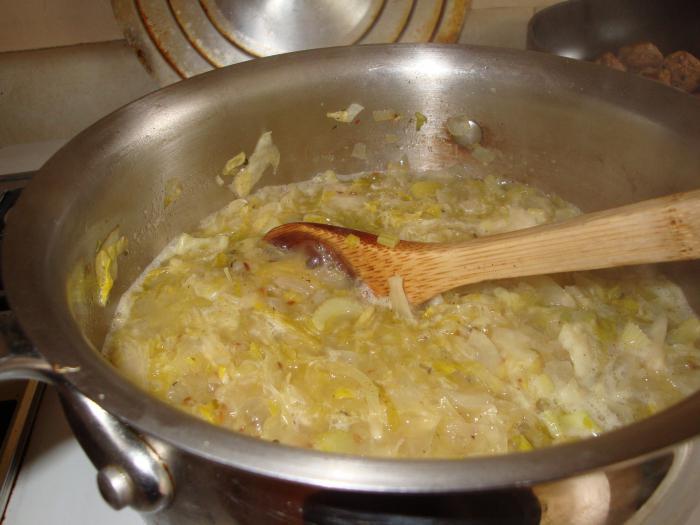 Капустняк из свежей капусты без мяса рецепт