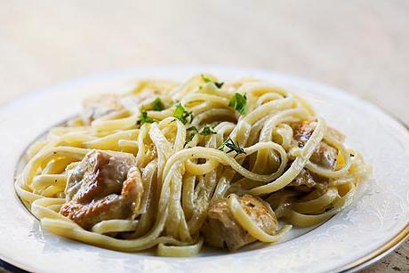 курица со спагетти