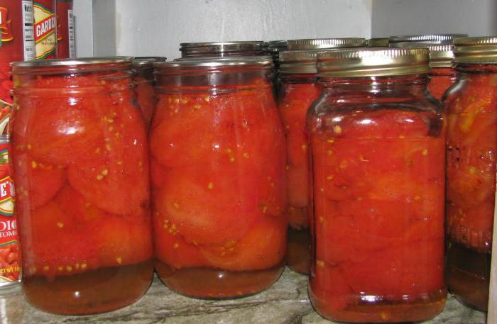 закатанные помидоры рецепт с фото