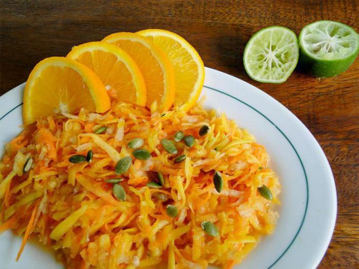 салат из тыквы рецепты с фото линкор
