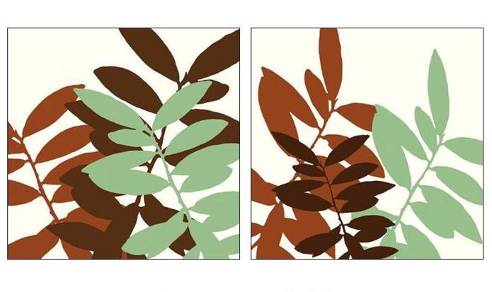 узор из листьев аппликация