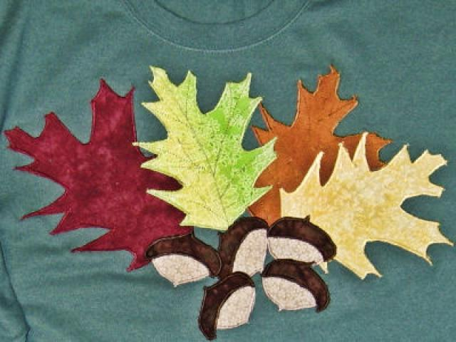 узоры из осенних листьев фото