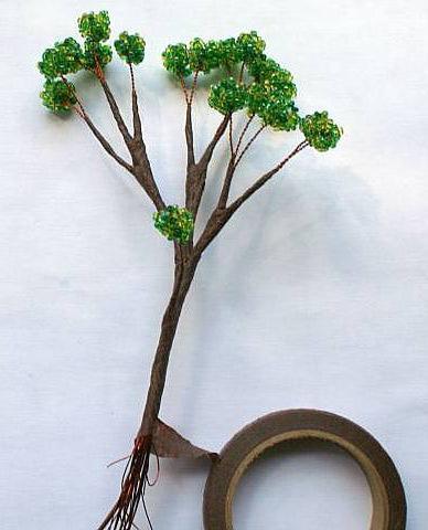 деревья из бисера схемы плетения для самых самых начинающих