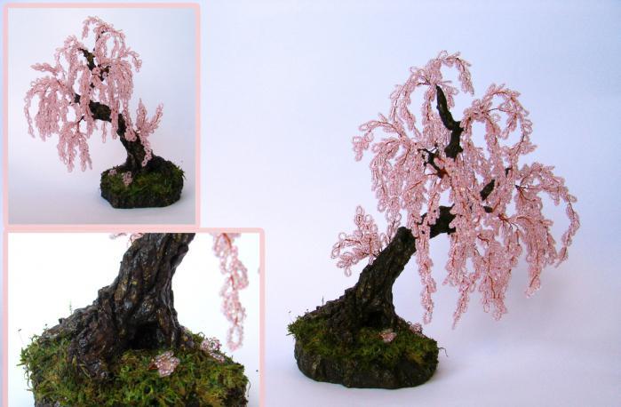 плетение бисером деревья сакура схема
