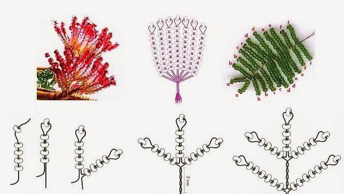 плетение бисером денежное дерево схема