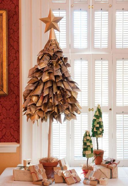 новогодняя елка из салфеток