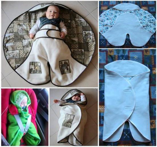 конверт с капюшоном для новорожденных выкройка