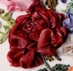 embroidery ribbons roses