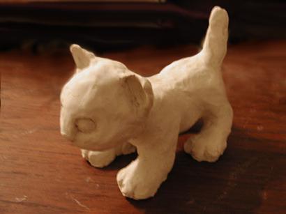 Как сделать из пластилина кошку