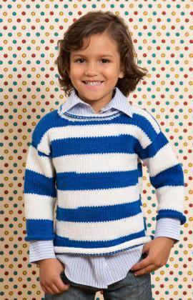 как связать простой свитер спицами