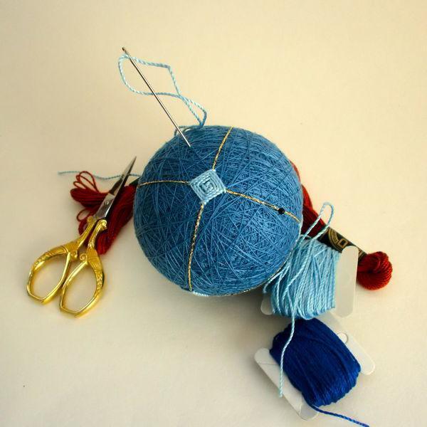 темари японское искусство вышивки шаров