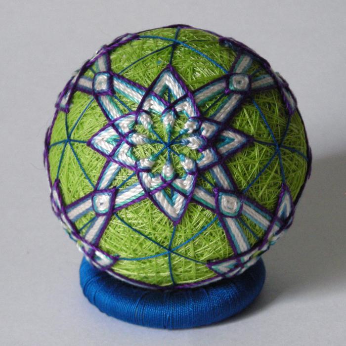 темари вышивка шаров