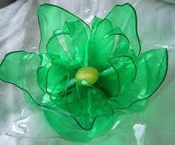цветы сделанные из пластиковых бутылок