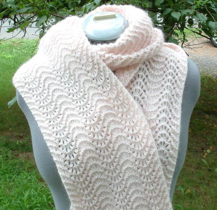 шарф труба спицами с описанием