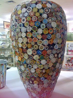 ваза из бумаги для цветов