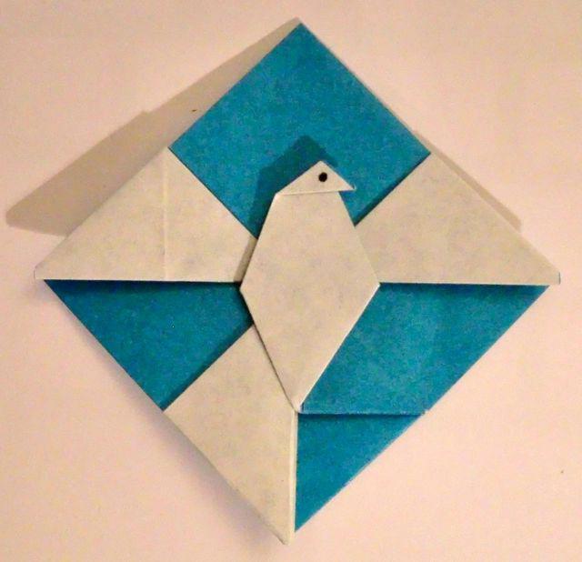 голубь мира поделка из бумаги
