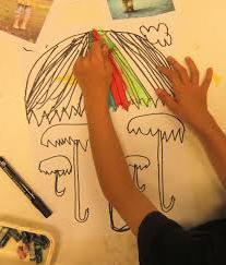 рисование идет дождь старшая группа