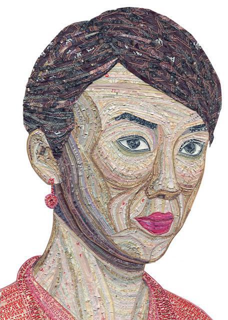 аппликация портрет