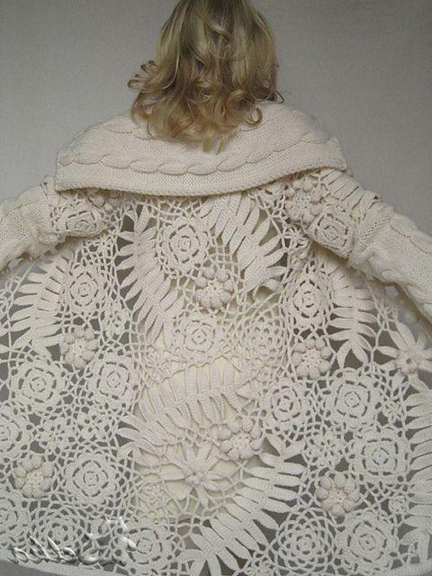 пальто крючком со схемами