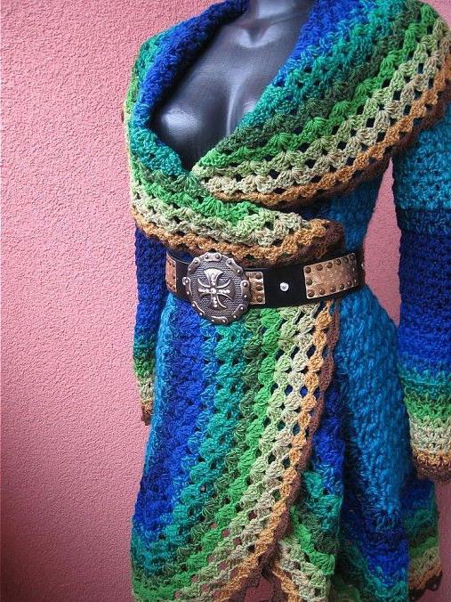 пальто крючком схема