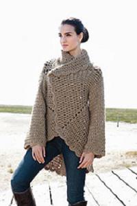 пальто для девочки крючком схемы
