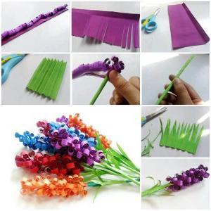 как сделать бумажный букет цветов