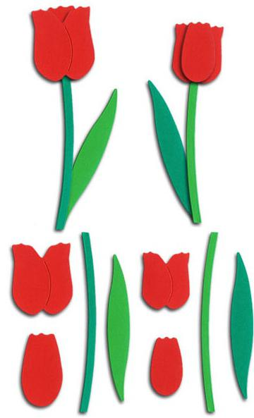Объемный тюльпан из бумаги на открытку, мужу день рождения