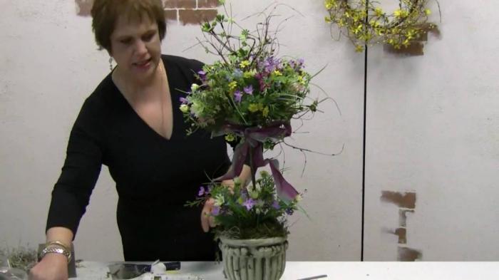 искусственные цветы для топиария