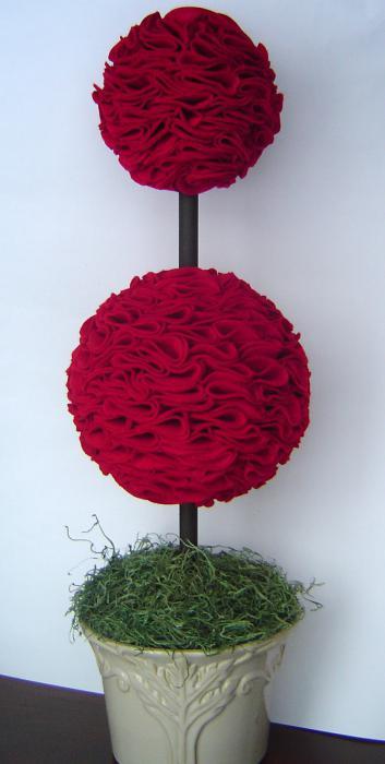 топиарий из цветов