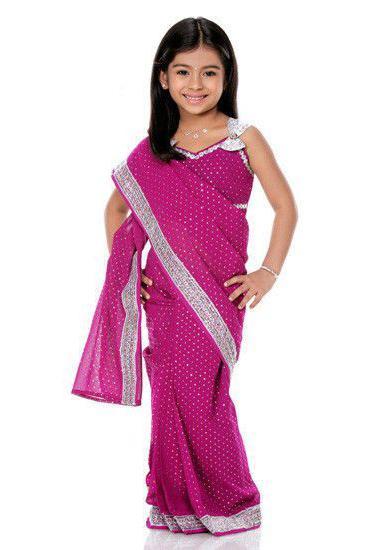индийское сари для девочки