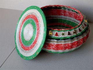 плетение из бумаги шкатулок с крышечкой