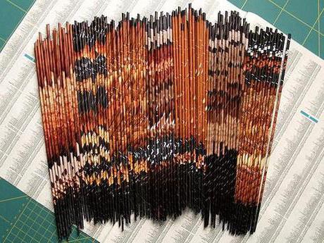 плетение из бумаги мастер класс для начинающих