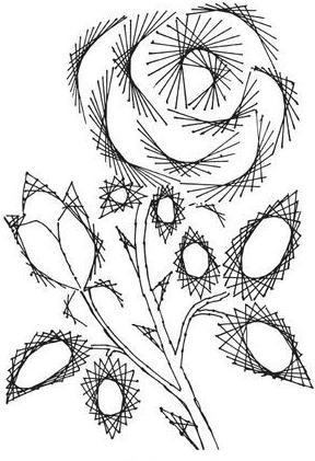 изонить схемы картин цветы
