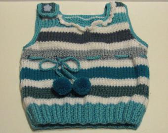 Вязание спицами жилетки для девочек
