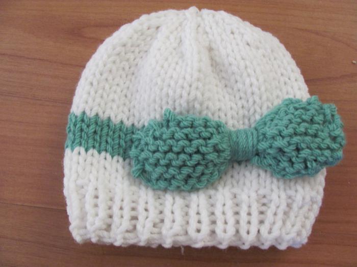 Вязание спицами шапочки для детей